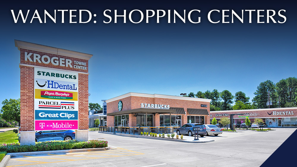 Wanted: Shopping Centers